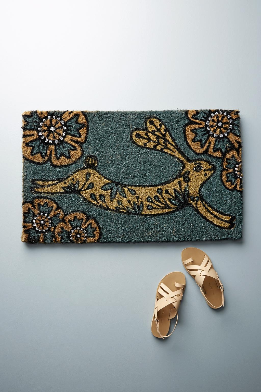 Paillasson lapin, 42$ chez Anthropologie