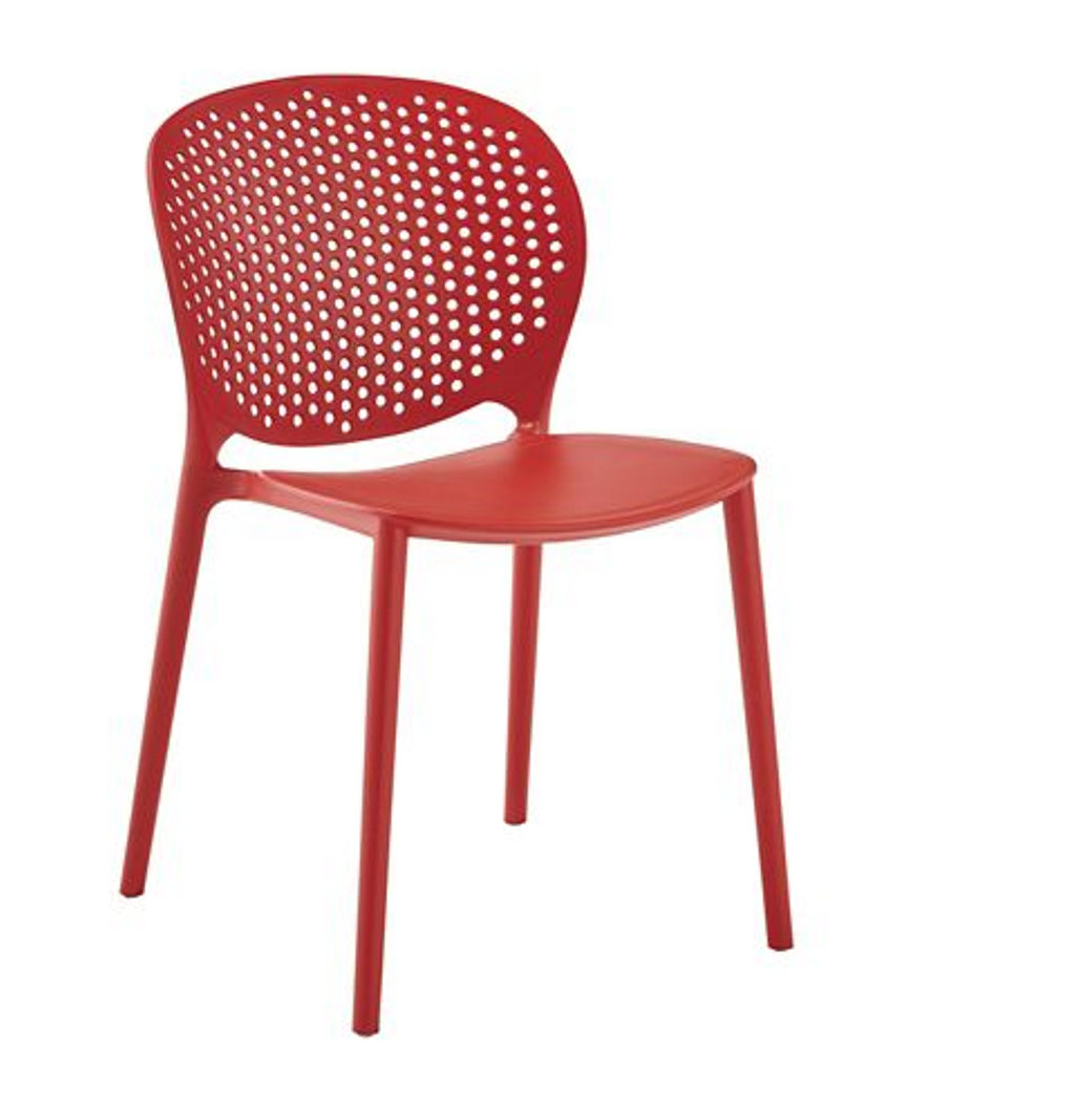 Chaise de jardin en résine CANVAS Rachel, rouge – Canadian Tire