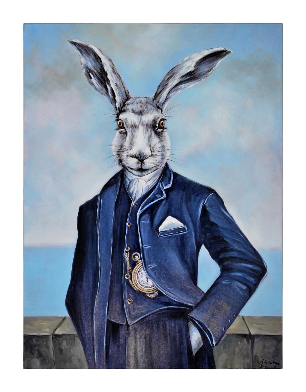 Peinture sur toile de lapin Stephens 91 cm x 122 x 5, collection New Traditional de Distinctly Home, 399,99$ chez La Baie d'Hudson